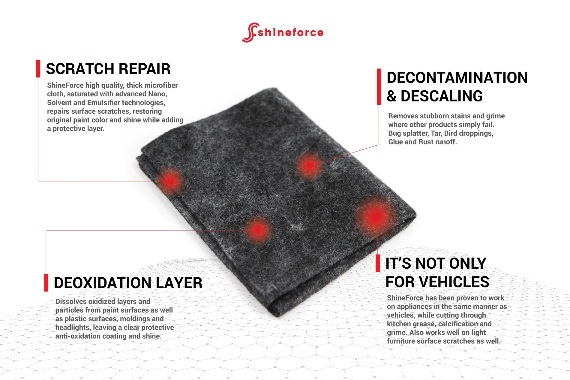 ShineForce Scratch Remover Repair Cloth